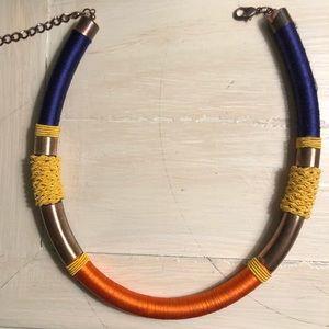 Collar color block necklace